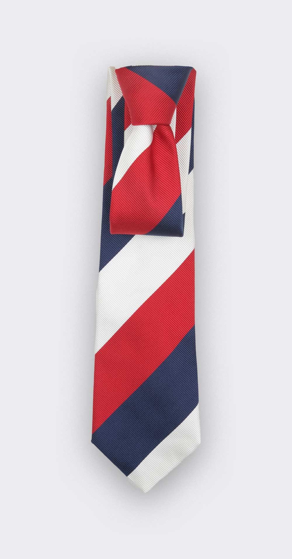 White Preppy Club Tie - Silk - Cinabre Paris