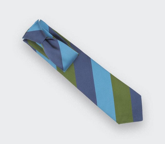 Cravate Club Preppy Bleu - soie- Cinabre Paris