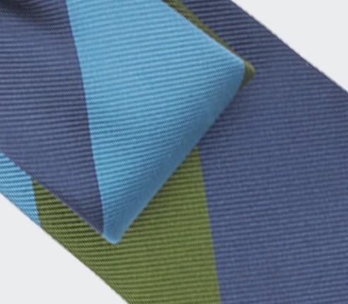 Blue Preppy Club Tie - Silk - Cinabre Paris