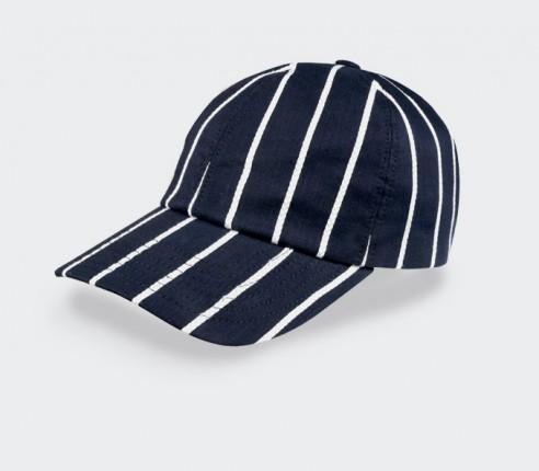 Pinstripe n°1 Cap - Made in France - Cinabre Paris