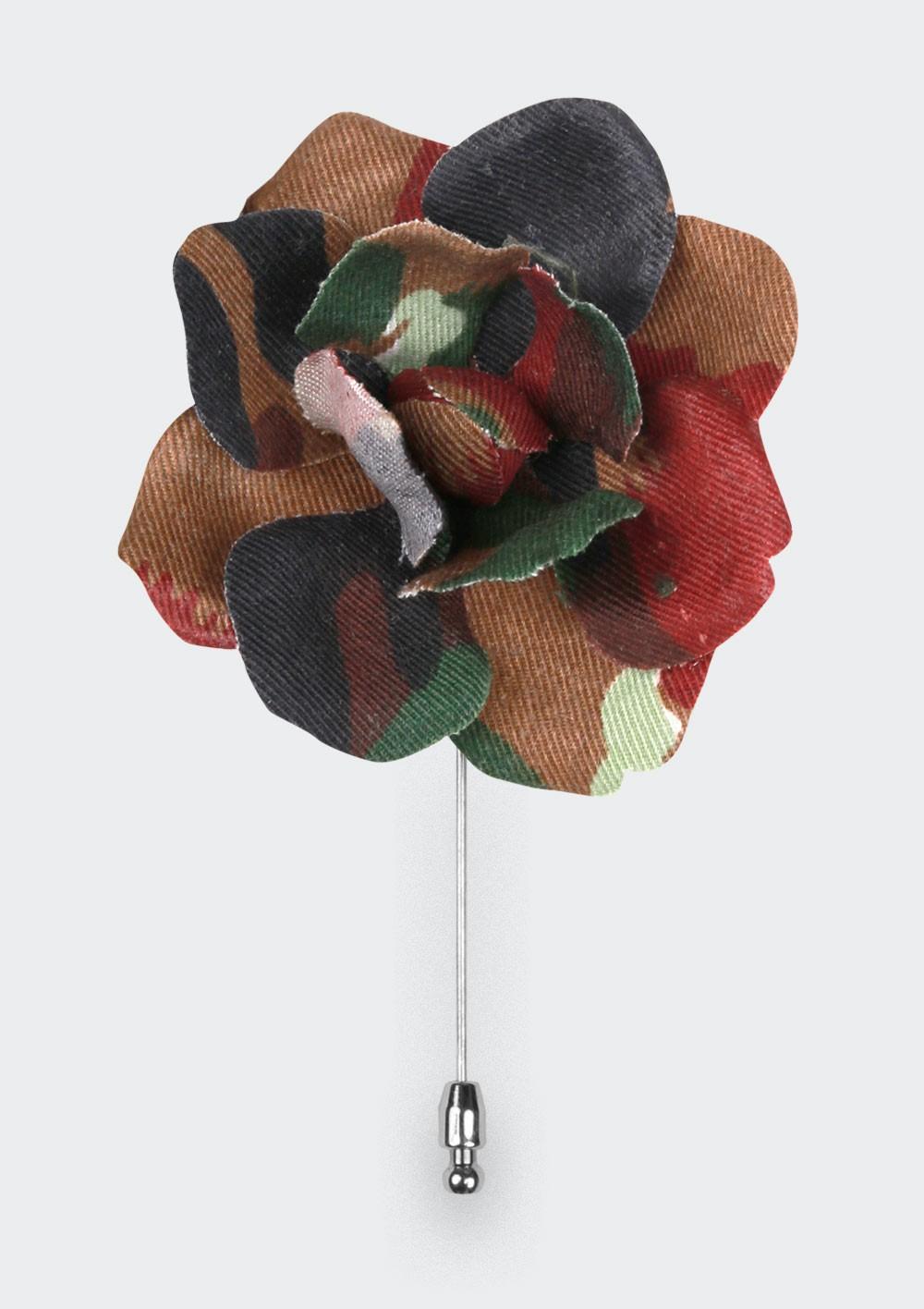 Swiss Gardenia Camo Flower Lapel Pin - Cinabre Paris