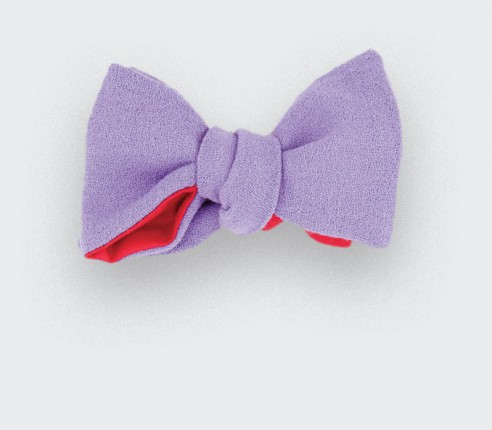 Noeud papillon CINABRE in wool crepe, made in France