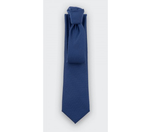 CINABRE - Tie - Chevron Bleu - made in France