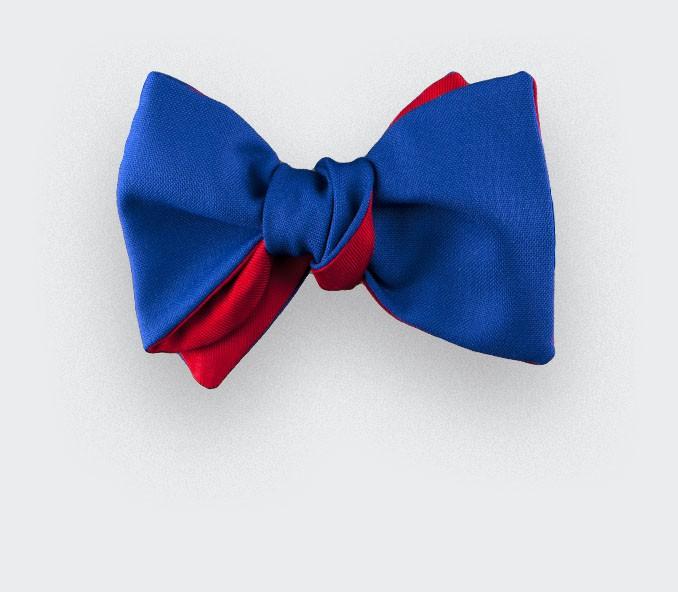 CINABRE Paris - Nœud Papillon - Bleu Électrique - Fait main