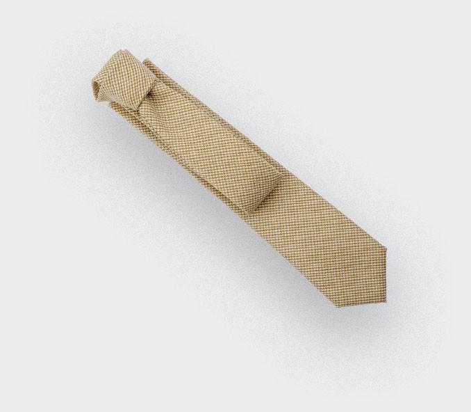CINABRE - Tie - Solent Jaune - made in France