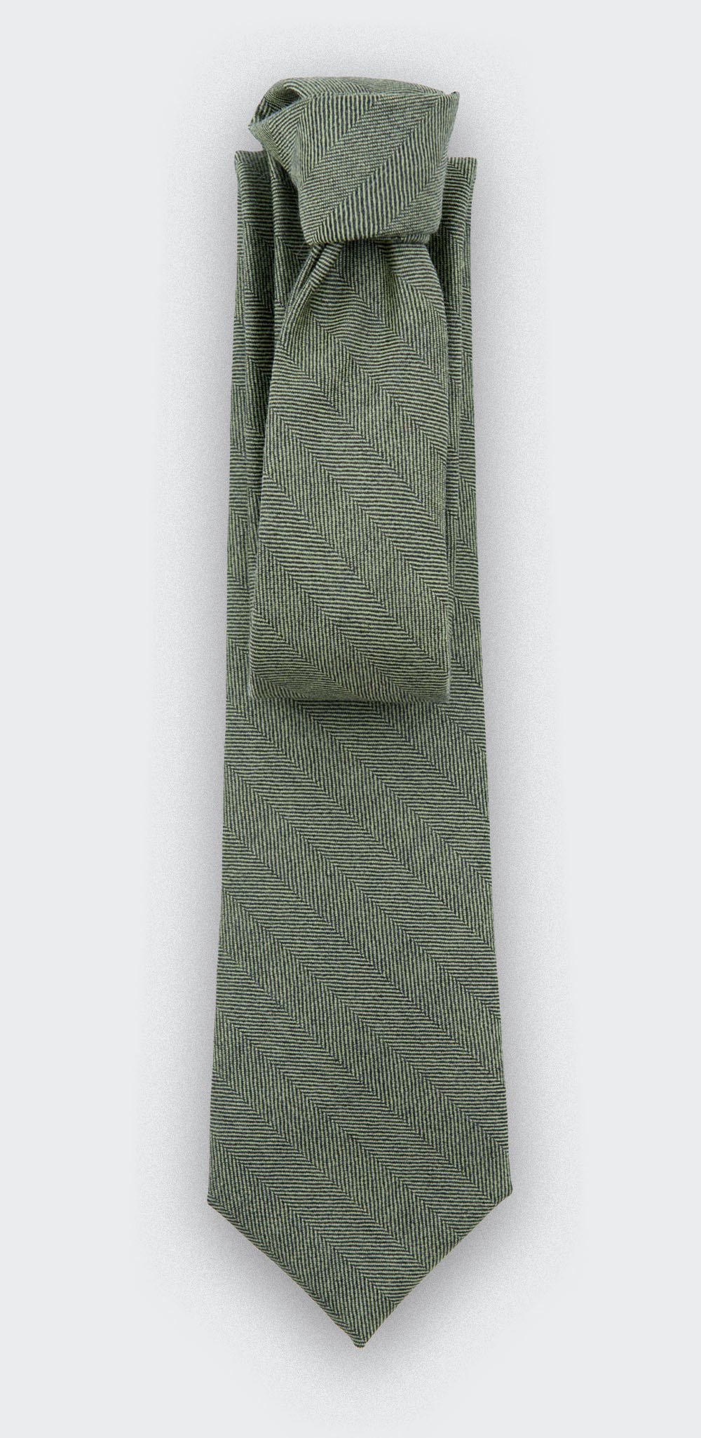 CINABRE - Tie - Chevron Vert - made in France