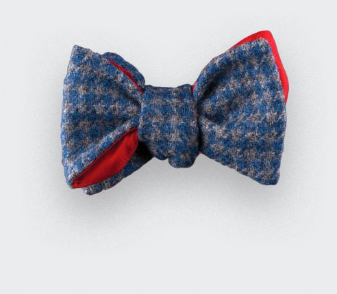 CINABRE Paris - Bow Tie - Loch Awe Bleu - Made in France