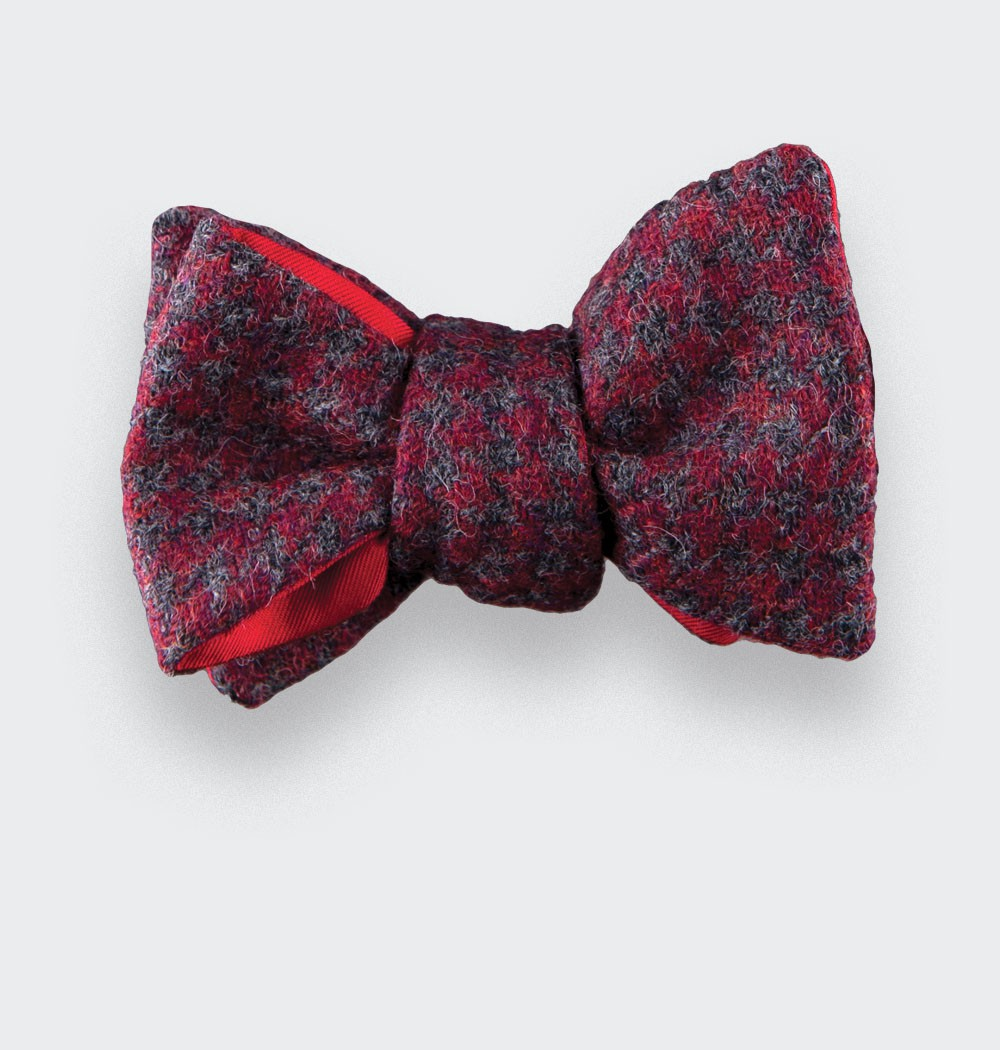 CINABRE Paris - Bow Tie - Loch Awe Rouge - Made in France