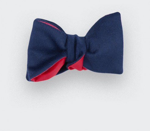 CINABRE Paris - Bow Tie - Peau Bleu - Made in France