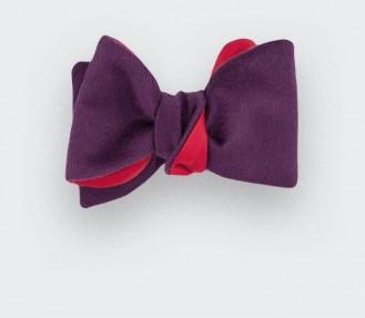 CINABRE Paris - Bow Tie - Peau Violet - Made in France