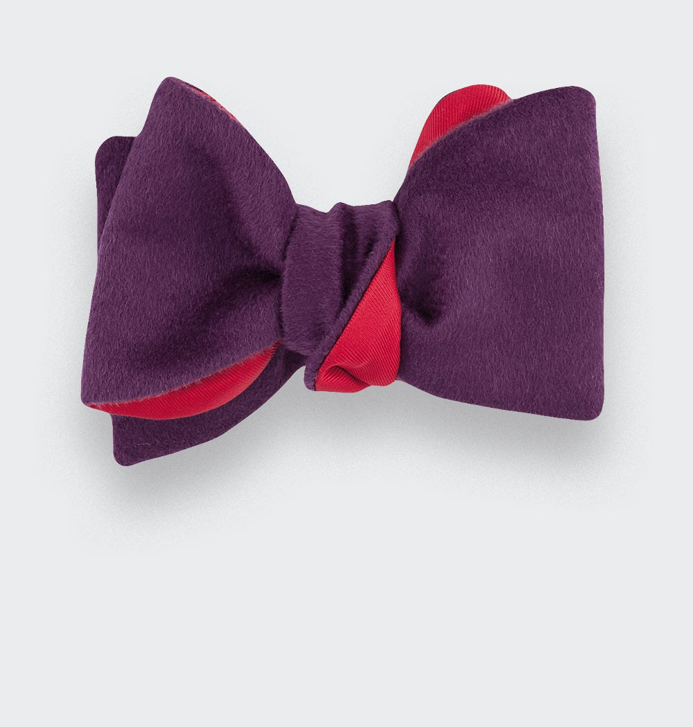 CINABRE Paris - Bow Tie - Peau Violet - Made in France