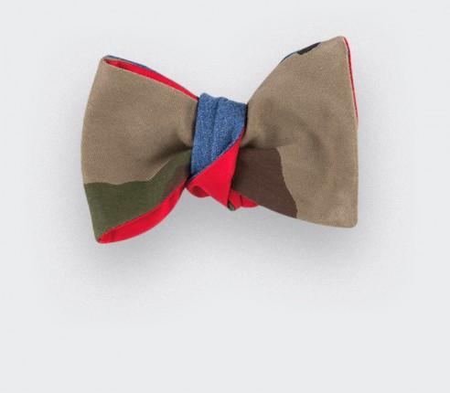 Bow Tie Camo & Denim Flannel
