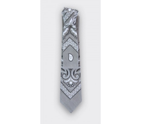 CINABRE - Tie - Bandana Gris- Made in France