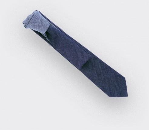 CINABRE Paris - Cravate - Revers Denim - Fait main
