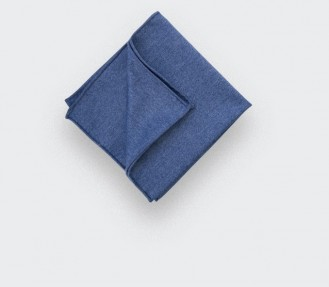 CINABRE Paris - Pocket Square - Flanelle Denim - Handmade