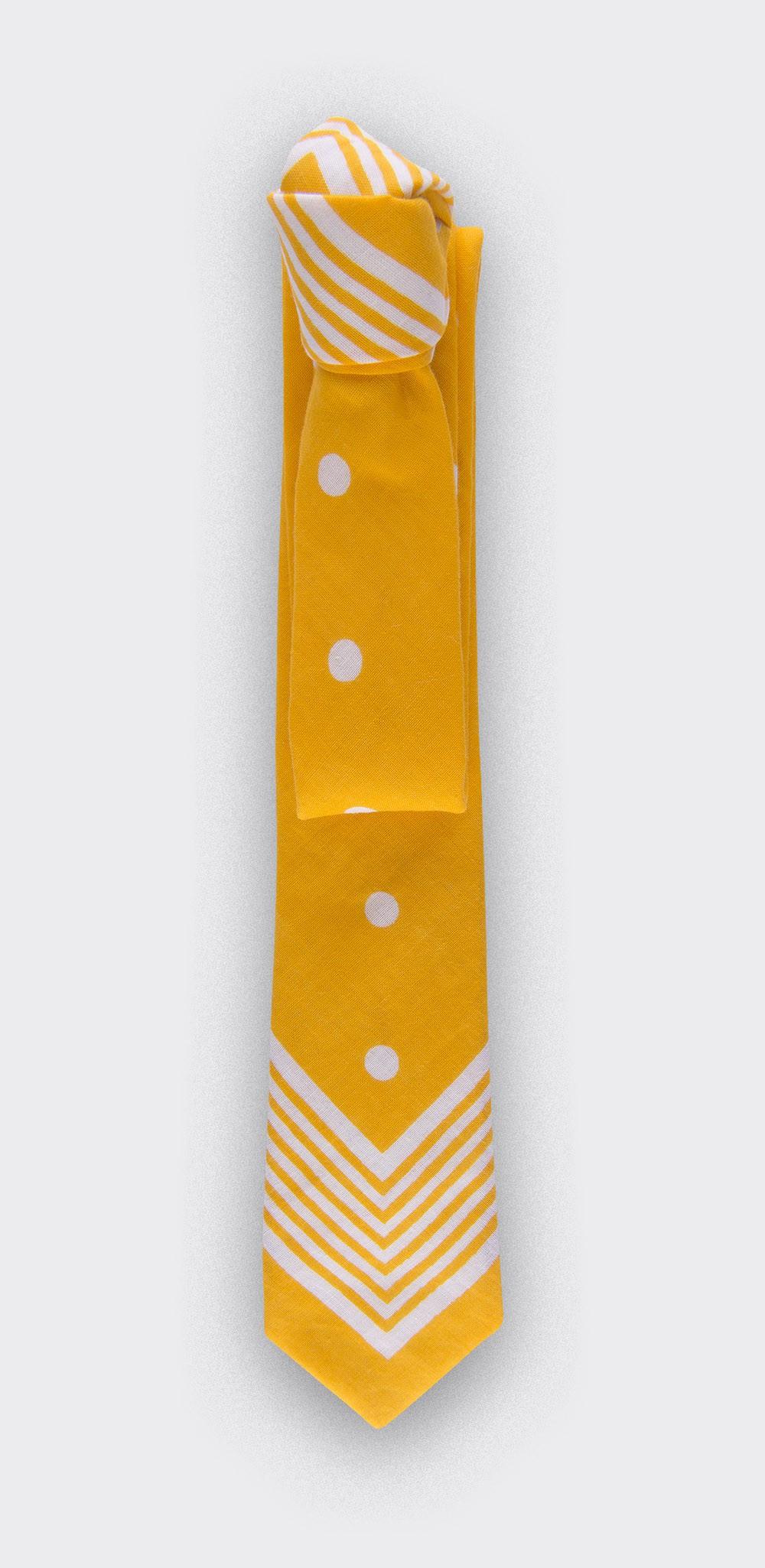 Cravate Bandana Jaune