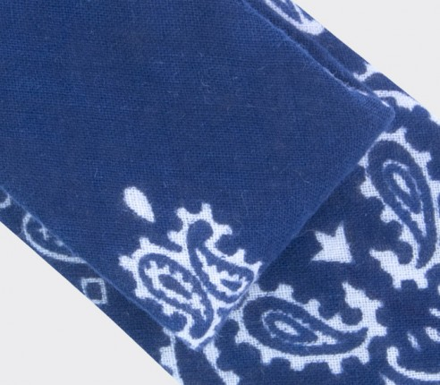 CINABRE - Cravate - Bandana Marine - made in France