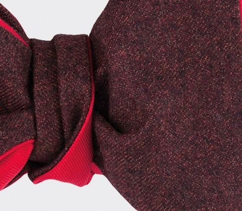 CINABRE Paris - Bow Tie - Flanelle Bordeaux - Hand Made
