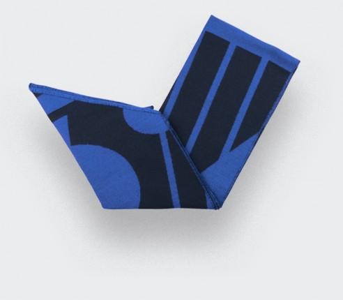 Écharpe Cinabre bleu pop en merinos extra fine