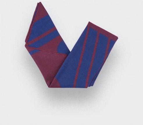 Écharpe Cinabre bordeaux bleu merinos extra fine