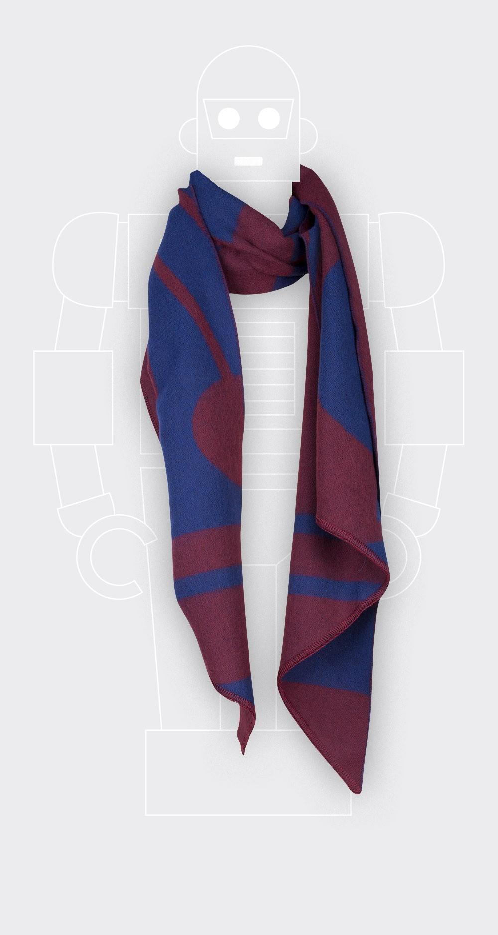Bordeaux scarf Cinabre extra fine merinos