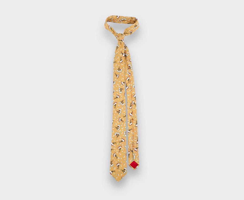 Mustard Flower Tie