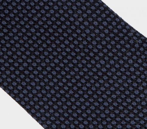 navy birdseye tie  - wool - cinabre paris