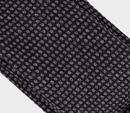 tie grey anthracite caviar - wool - cinabre paris