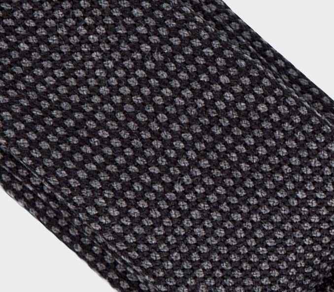 CINABRE - Tie - Caviar Anthracite - made in France