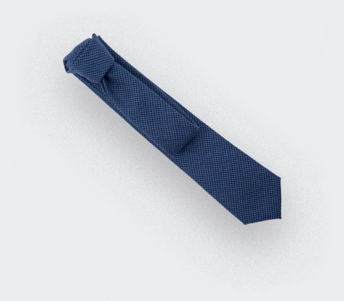 CINABRE - Cravate - Solent Bleu - made in France