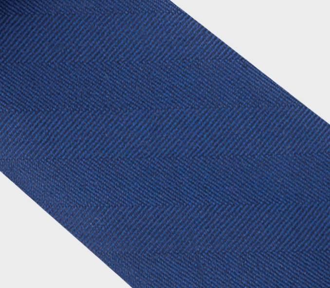 CINABRE - Tie - Chevron Bleu - made in France