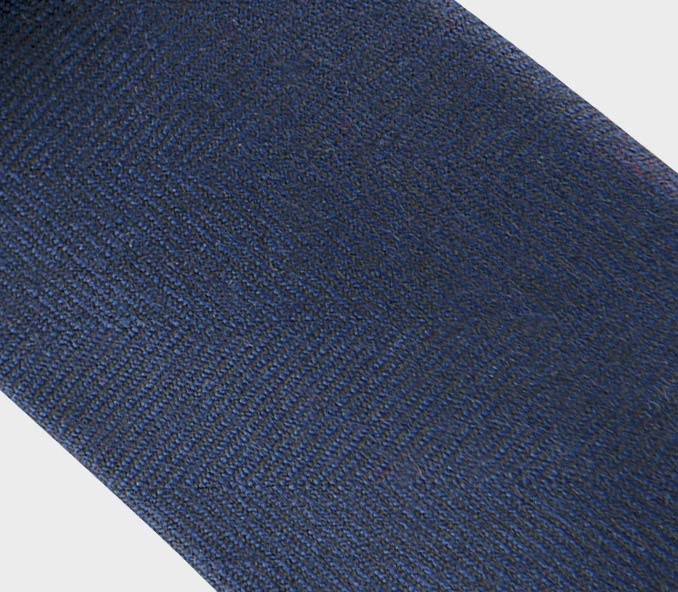 CINABRE - Tie - Chevron Marine - made in France
