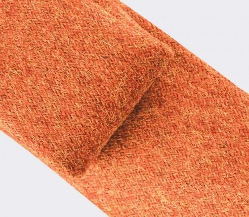 CINABRE Paris - Cravate - Holy Loch Orange - Made in France
