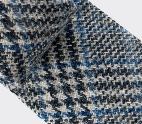 CINABRE Paris - Tie - Loch Katrine Bleu - Made in France