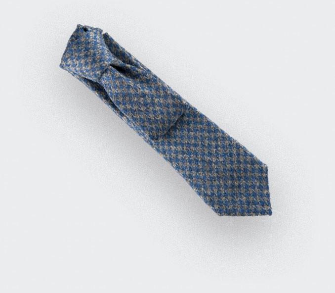 CINABRE Paris - Tie - Loch Awe Bleu - Made in France