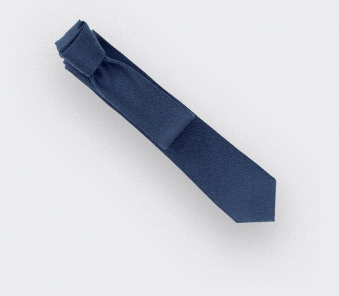CINABRE Paris - Tie - Kevlar Bleu - Made in France