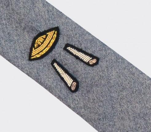 Cravate M&L Soucoupe en laine et soie - fait main en France par CINABRE Paris