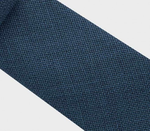 peacock blue maille tie - wool - cinabre paris