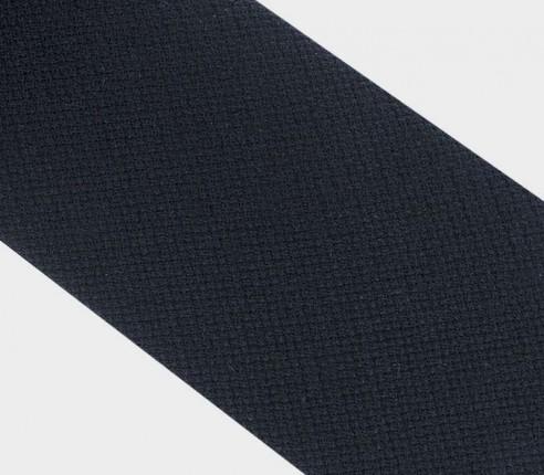 cravate maille noir - laine - cinabre paris