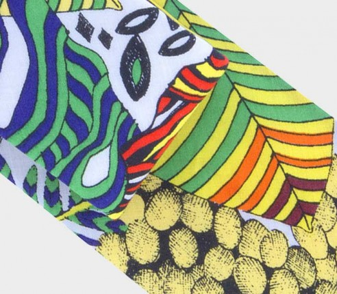 cravate afro jade - coton et soie - cinabre paris