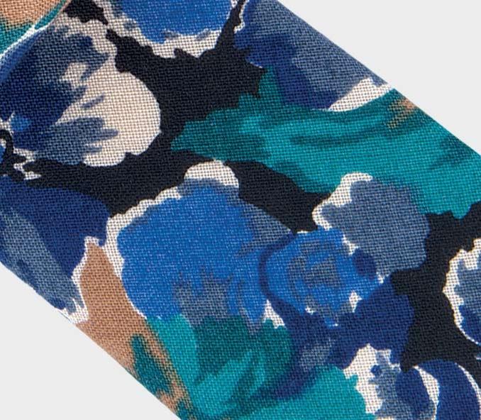 Cravate Floral Laine - laine - fait main en France par CINABRE Paris