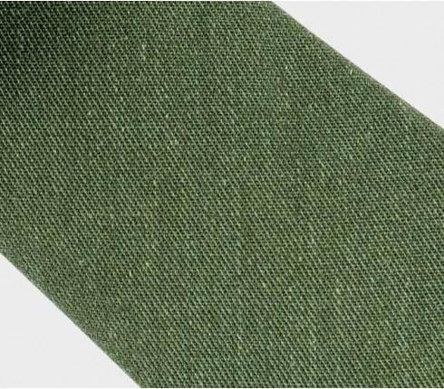 Cravate Opex Olive - coton et soie - fait main en France par CINABRE Paris