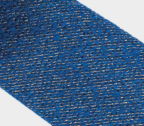 tie gold and blue 1001 Nuits - wool and lurex gold - cinabre paris