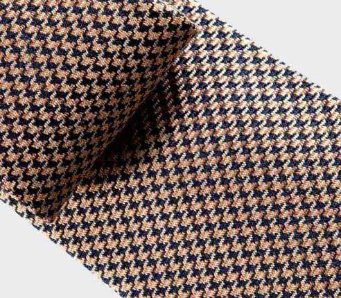 tie gold Flash Scabal - silk and wool - cinabre paris