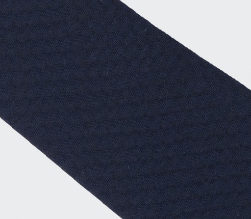 cravate Cannes noir -  coton et soie - cinabre paris
