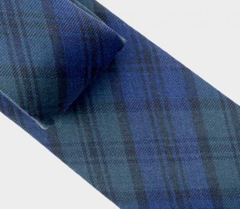 CINABRE - Cravate Ecosse en laine et soie - made in France