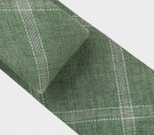 cravate agay vert - lin - cinabre paris