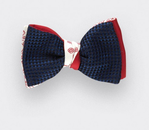 Bow Tie 3D Fleurigny - Silk and cotton - CINABRE Paris