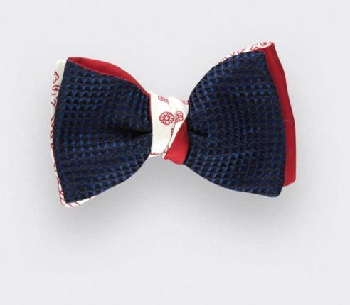 Noeud Papillon 3D Fleurigny - Soie et coton - CINABRE Paris