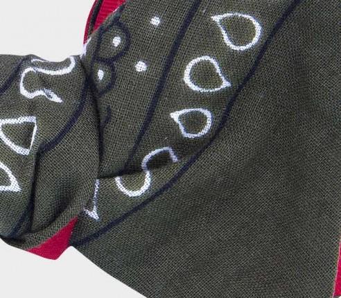 kaki bandana bow tie - cotton - cinabre paris